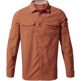 Craghoppers NosiLife Adventure II Long Sleeved Shirt Herre burnt whisky